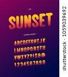 vector sunset alphabet modern... | Shutterstock .eps vector #1059039692