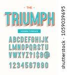 triumph modern typeface. font... | Shutterstock .eps vector #1059039695