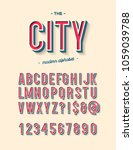 vector city modern alphabet... | Shutterstock .eps vector #1059039788