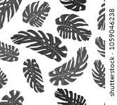 monstera leaves seamless...   Shutterstock .eps vector #1059046238