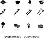 grilling icons   Shutterstock .eps vector #105905048