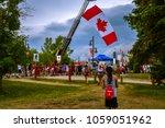 sylvan lake  alberta  canada ... | Shutterstock . vector #1059051962