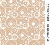 beige and white geometric... | Shutterstock .eps vector #1059055112