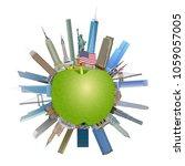 new york city  the big apple ... | Shutterstock .eps vector #1059057005