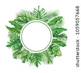 watercolor painting frame... | Shutterstock . vector #1059057668