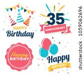 happy birthday vector logo for... | Shutterstock .eps vector #1059062696