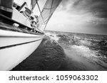 Sailboat Cruising On Sea ...