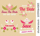 wedding retro vintage vector... | Shutterstock .eps vector #1059064385