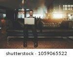 handsome young businessman in...   Shutterstock . vector #1059065522