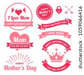 mother day vector label for... | Shutterstock .eps vector #1059066416