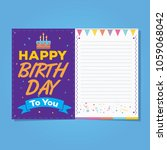 happy birthday card with note.... | Shutterstock .eps vector #1059068042