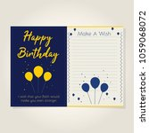 happy birthday card with note.... | Shutterstock .eps vector #1059068072