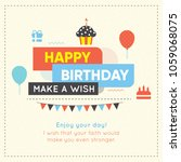 happy birthday background.... | Shutterstock .eps vector #1059068075
