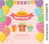 happy birthday background with... | Shutterstock .eps vector #1059068078