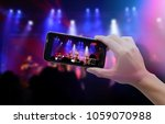 live video streaming concept... | Shutterstock . vector #1059070988