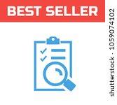 marked checklist icon. check... | Shutterstock .eps vector #1059074102