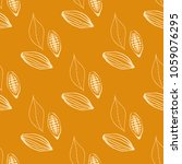 cocoa beans seamless pattern | Shutterstock .eps vector #1059076295