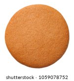 gingerbread round cookie... | Shutterstock . vector #1059078752