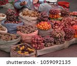 potatoes on the market | Shutterstock . vector #1059092135