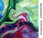 acrylic marbling painting. hand ...   Shutterstock . vector #1059096998