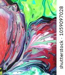 acrylic marbling painting. hand ...   Shutterstock . vector #1059097028