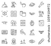 thin line icon set   brain... | Shutterstock .eps vector #1059104972