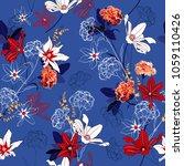 beautiful seamless pattern... | Shutterstock .eps vector #1059110426