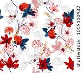seamless pattern vector a... | Shutterstock .eps vector #1059110432