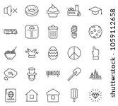 thin line icon set   hand... | Shutterstock .eps vector #1059112658