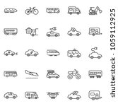 thin line icon set   home... | Shutterstock .eps vector #1059112925