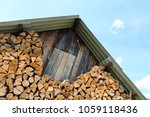 Pile Of Chopped Oak Firewood A...