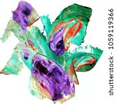 colorful abstract hand painted... | Shutterstock . vector #1059119366