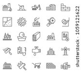 thin line icon set   mortgage... | Shutterstock .eps vector #1059121622