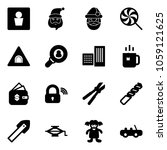 solid vector icon set   male wc ... | Shutterstock .eps vector #1059121625