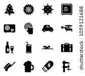 solid vector icon set  ... | Shutterstock .eps vector #1059121688