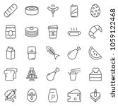 thin line icon set   coffee... | Shutterstock .eps vector #1059122468
