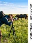photographer animal painter ... | Shutterstock . vector #1059129935