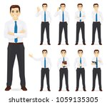 businessman vector illustration ... | Shutterstock .eps vector #1059135305