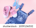 clothes and shoes for little... | Shutterstock . vector #1059136532