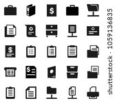 flat vector icon set   case... | Shutterstock .eps vector #1059136835