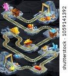 isometric mining game level... | Shutterstock .eps vector #1059141392