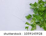 bunch of fresh garden parsley ... | Shutterstock . vector #1059145928