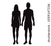 vector silhouettes man and... | Shutterstock .eps vector #1059147236