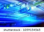 servers and hardware room... | Shutterstock . vector #1059154565