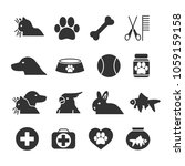 vector image set of pet icons.   Shutterstock .eps vector #1059159158