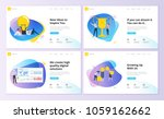 set of website template designs.... | Shutterstock .eps vector #1059162662