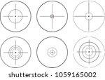 sniper scope. vector... | Shutterstock .eps vector #1059165002