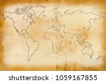 old map of the world    Shutterstock . vector #1059167855