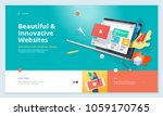 website template design. modern ...