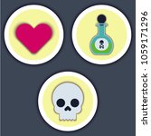 set of flat icons  unhappy love. | Shutterstock .eps vector #1059171296